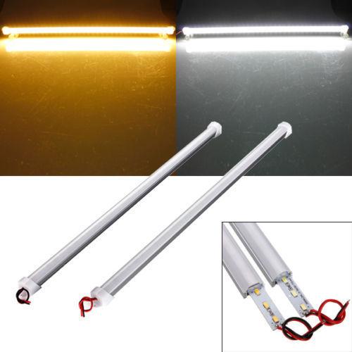 OSIDEN 100pcs/lot smd 5630 0.5M 1M 14W 7W LED 12V Hard Rigid Strip Bar Light 36leds Aluminium Alloy ShellPC or transperant cover