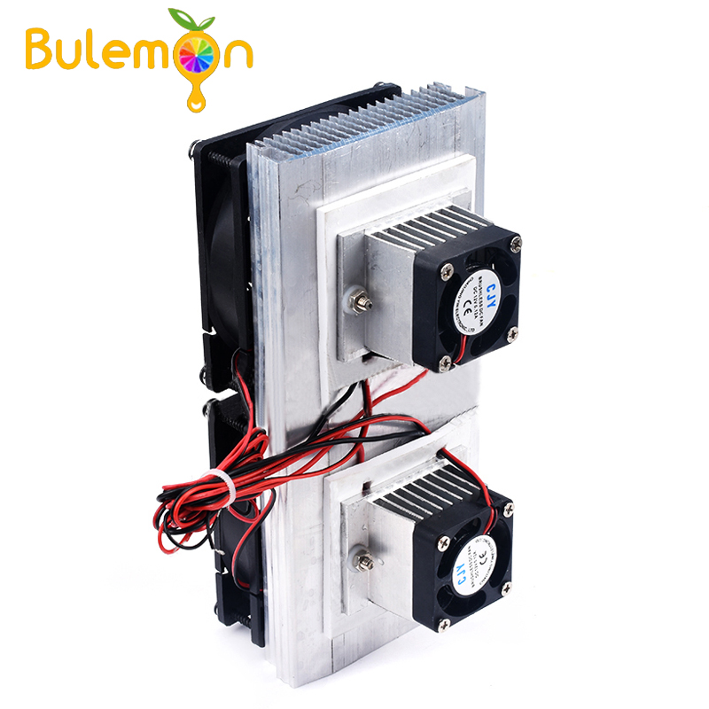 12V Dual-core Electronic Refrigerator Diy Semiconductor Refrigeration Chip Cooling Module Cool Kit