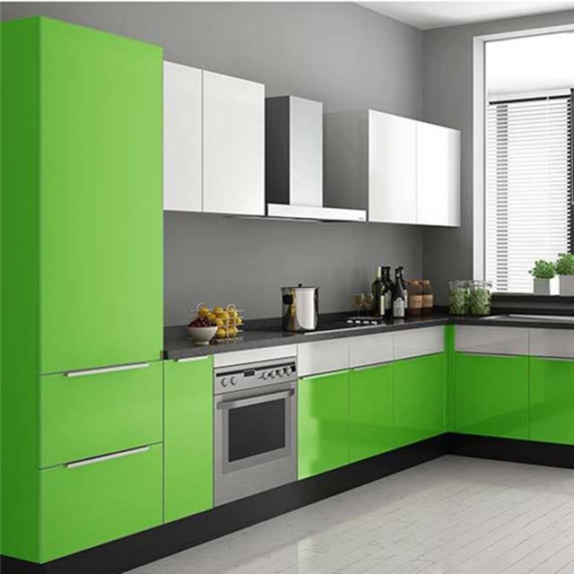 Kaka Pvc Kitchen Furniture: Waterproof PVC Vinyl Solid Color Green Self Adhesive
