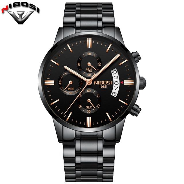 Nibosi Luxury Stainless Steel Waterproof Men Quartz Watches 4