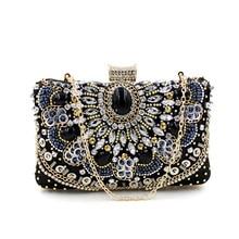 Neue Mode Strass Kette Umhängetasche Abendtaschen Frauen Geldbeutel und Handtaschen Cheongsam Handtasche für Party Hochzeit