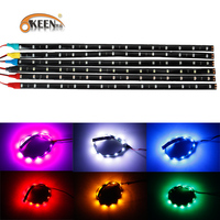 KEEN High Quality 12V 7colors Of Flexible Short Led Strip 3528 15SMD 30cm Decoration Light With