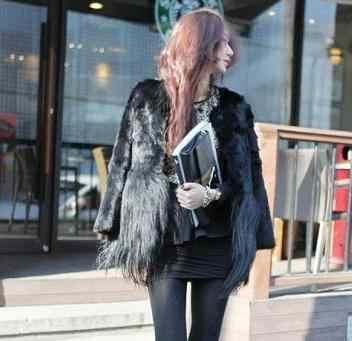 2019 frauen Damen Oberbekleidung 6XL Büro Neuheit Winter Herbst Faux Pelz Mäntel Vintage Faux Kaninchen Pelz Lange Haar Jacken Mantel YR61