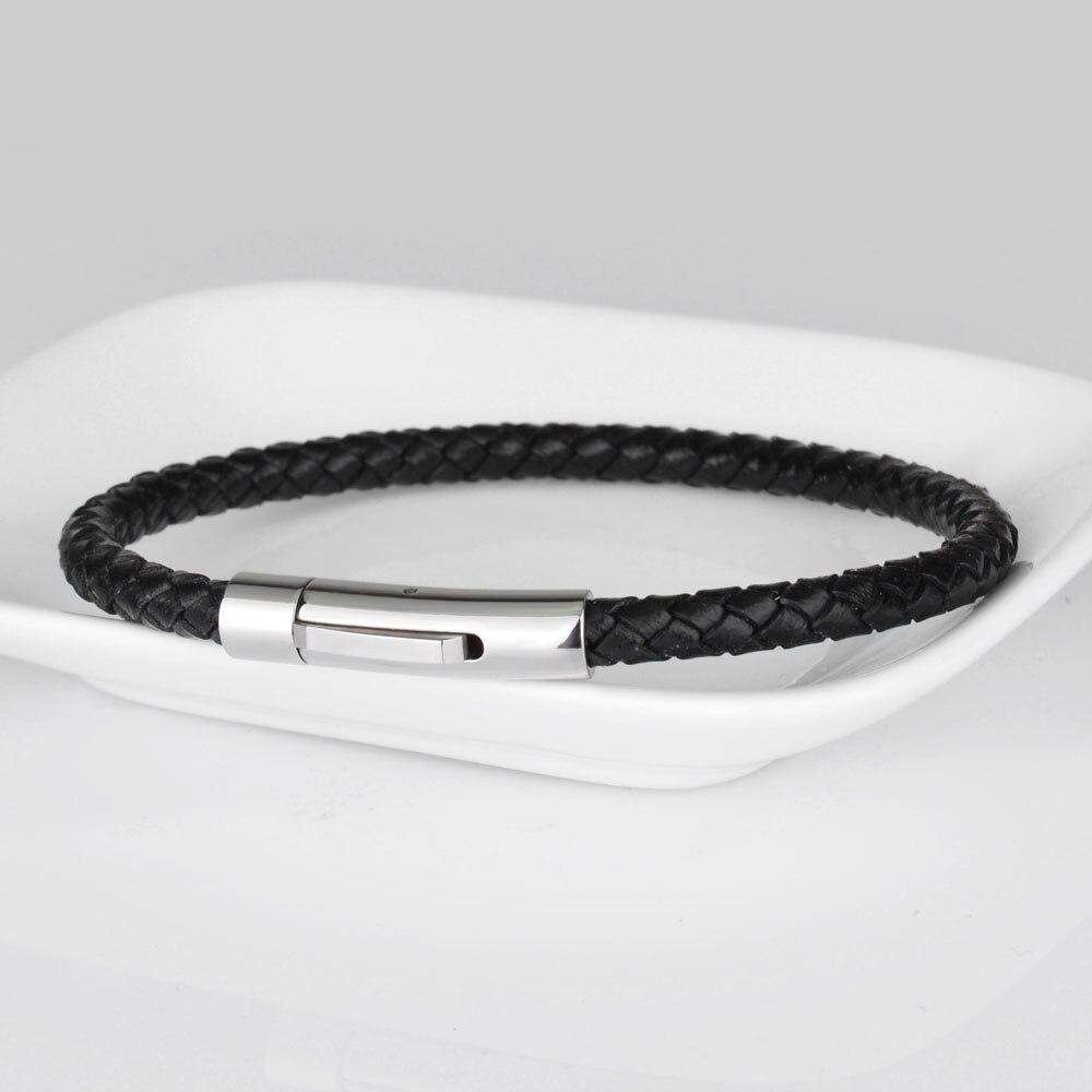 Kirykle-Bracelet en cuir véritable pour hommes et femmes, breloque tressé en acier inoxydable, bijoux, offre spéciale 6