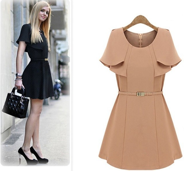 Women Cape Dress