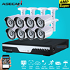 8CH HD 4MP CCTV Camera Outdoor Security Camera System Kit P2P Surveillance Motion Detection Infrared Night