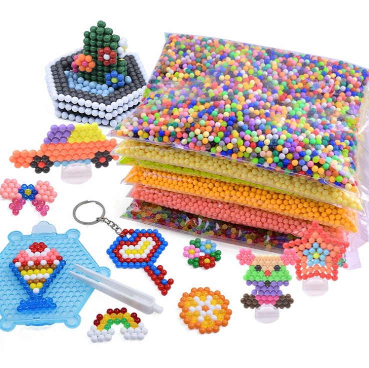 500pcs 5mm Selling DIY 3d aqua Puzzles Toy Perler Hama Beads Ball New Year Gift Perlen Learn Kids Toys(China)