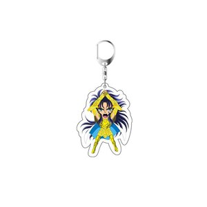 Image 3 - 2019 Saint Seiya Keychain Double Sided Key Chain Acrylic Pendant Anime Accessories Cartoon Key Ring Cute Japanese Key Rings