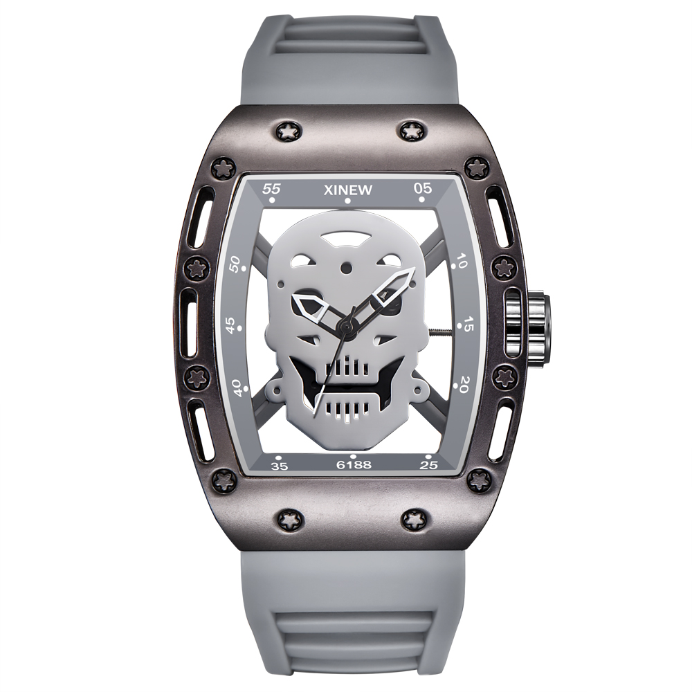 Famous Brand Watches Mens Rubber Large Dial Shantou Skeleton Designer Watches Men Sports Army Gifts Watch Relogio Masculino 3860