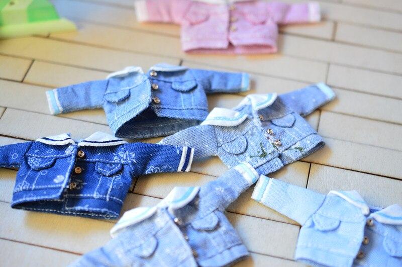 New [1/12 Doll Denim Coat] OB11 Coat 1/12 Doll Jacket Obitsu11 Clothes (Fit Ob11,obitsu11,BJD12,cu-poche)