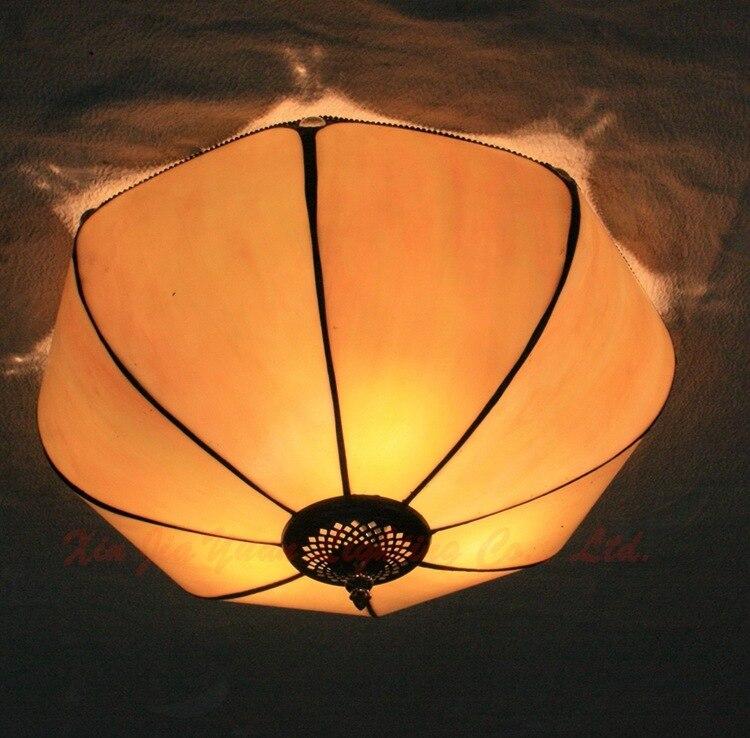 30cm Living Room Restaurant Bedroom Ceiling Lamps European Stained Glass Eyeshield Lights Verandah Terrace Children Room Lamps