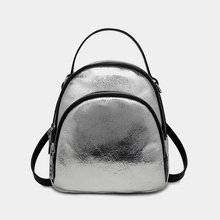 ФОТО cherily2018 new fashion holographic laser pu backpacks women embroidery girls shoulder school bags travel letters teenager girls