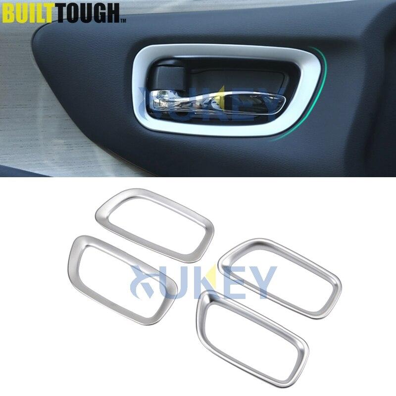 For Mitsubishi Outlander 2013 2014 2015 Inner Car Door Handle Cover Bowl Insert Trims ABS Chrome 4PCS//SET