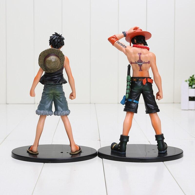 2pcs set 17cm One Piece Luffy Ace usopp nami nico Marco Roger PVC Action  Figure Model Toys One Piece Figure - aliexpress.com - imall.com 414b701f0ada