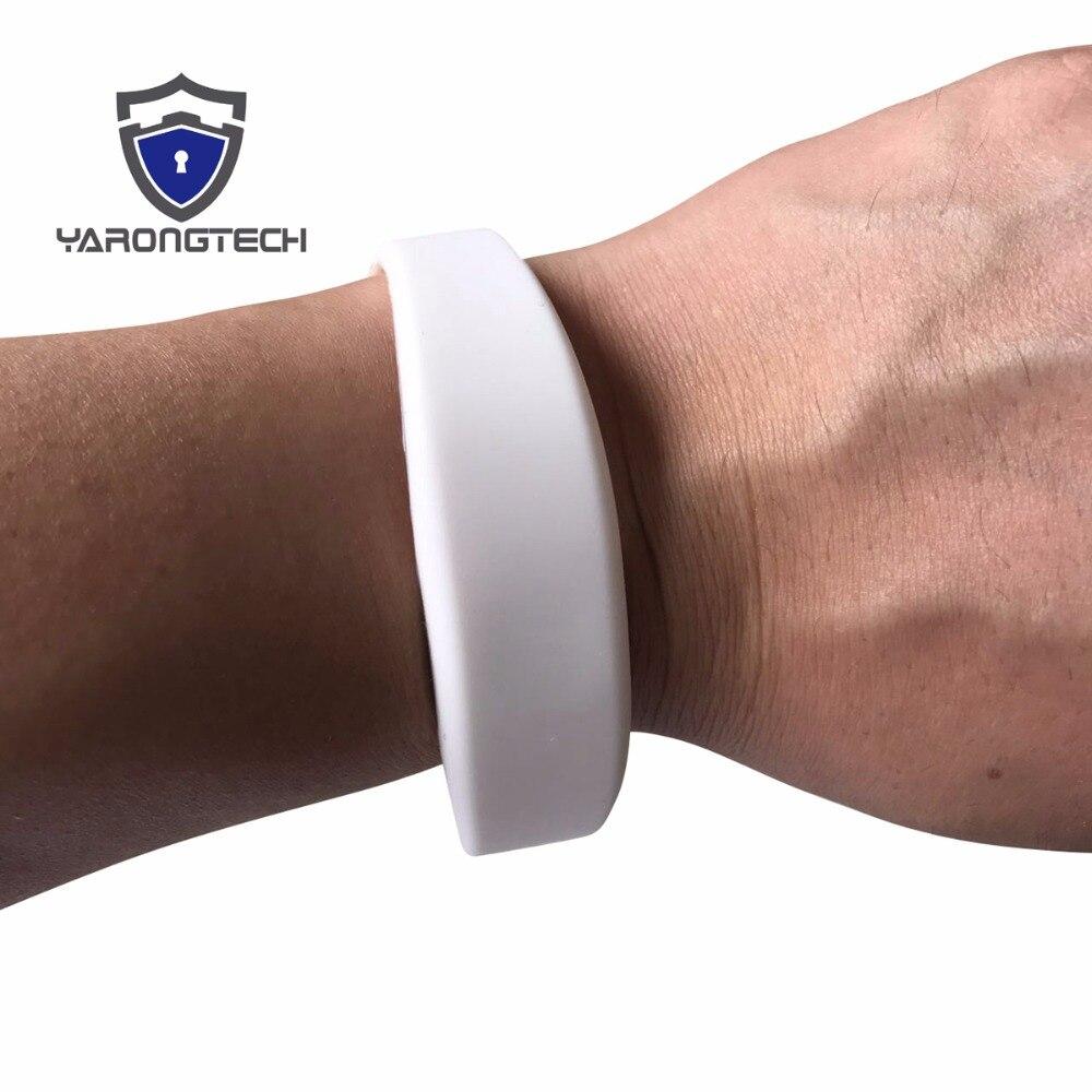 13.56MHZ ISO14443A 1K White NFC Silicone Rfid Wristband - 5pcs