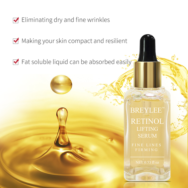 BREYLEE Retinol Lifting Firming Serum Face Facial Collagen Essence Remove Wrinkles Anti Aging Skin Care Fade