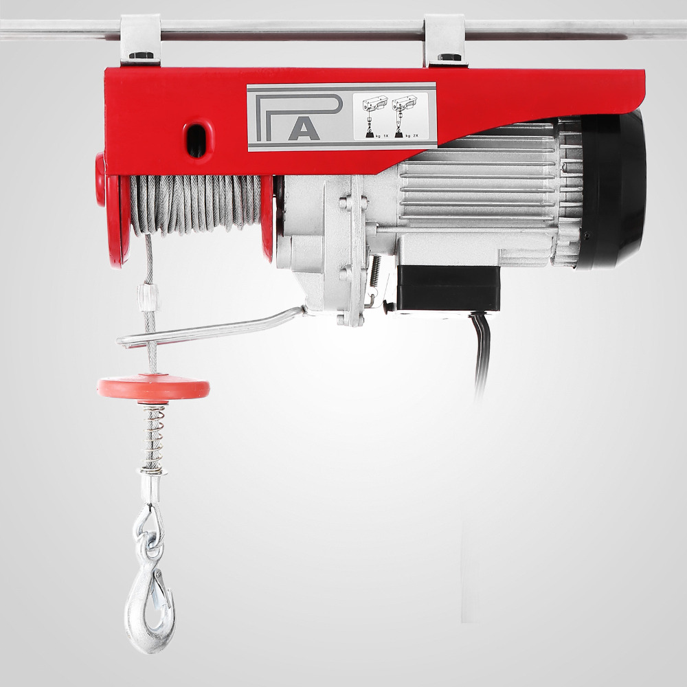 New 880lbs Mini Electric Hoist Crane Overhead Garage Winch Remote Control Auto Lift