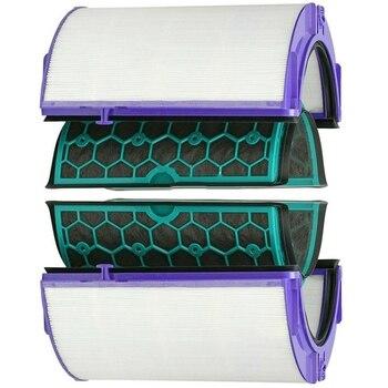 Per Dyson Hp04 Tp04 Dp04 Sigillato A Due Stadi Purificatore D'aria Hepa e Filtro a Carbone Set