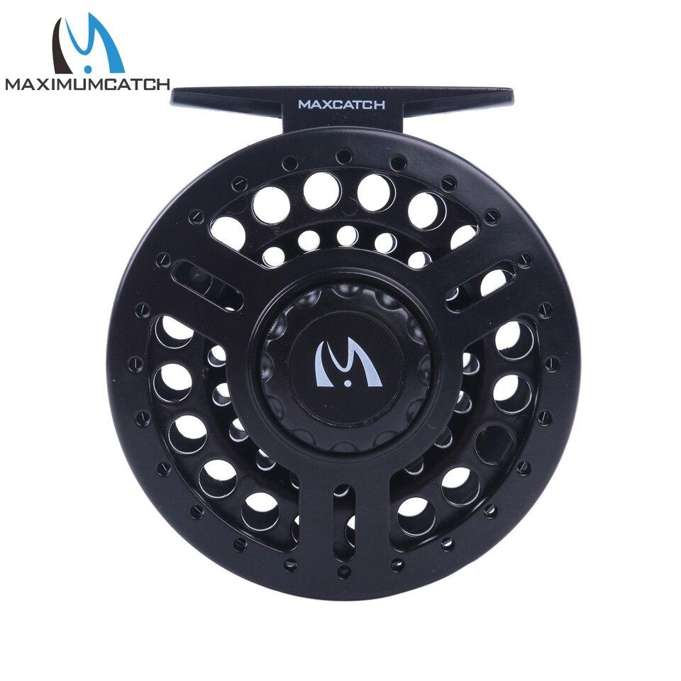 Maximumcatch 5/6WT Fly Reel Black High Density Plastic Fly Fishing Reel цена