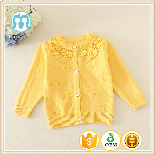 3b08fa13e New Yellow Sweater Designs For Kids Computer Knitted Wool Sweater Design  For Girl Kids Embroidered Sweater Fashion