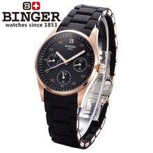 Горячие Продажи Новый Дизайн Бингер Часы Женева Мода Преувеличены Любовь Пара Наручные Часы Женщины Кварц Черные Часы Из Розового Золота