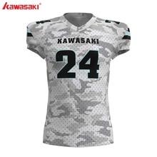 Кавасаки на заказ профессиональный американский Футбол Топ майки для тренировок Мужские дышащие тренировочные спортивные футбольные костюмы сетка