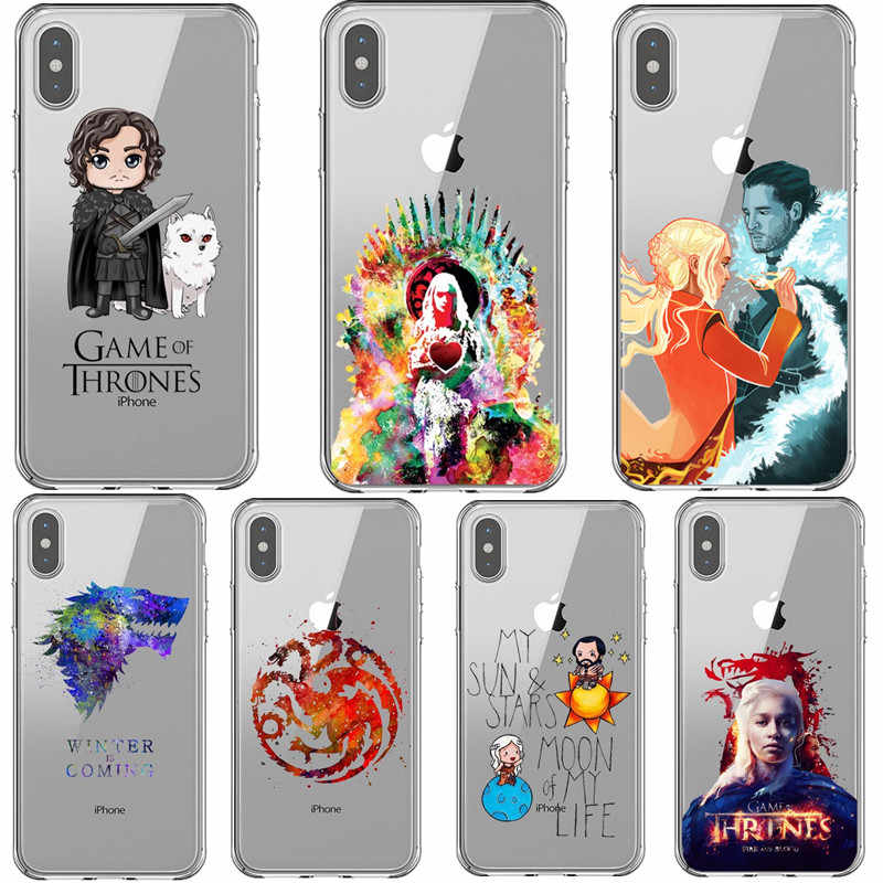 Tyrion lannister Game of Throne Daenerys Dragão Jon Snow Casos de Telefone Para o iphone X 5S SE 6s 6 7 8 mais XS Max XR Coque Tampa Traseira