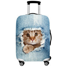 JULY'S SONG Cute Animal 3D Pattern Travel Luggage Protection Cover 18-32 Inch Suitcase Elastic Case Covers Trolley Dust Cover