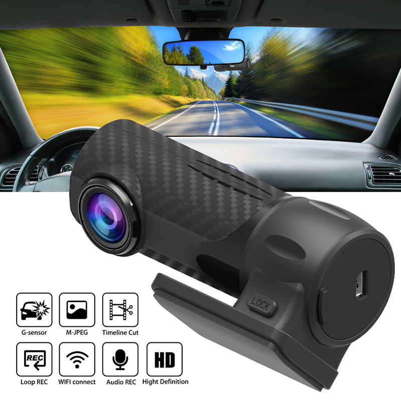 HD 1080P Driving Video Recorder 360 Degrees Wide Angle Car DVR Loop Recording Tachograph Camera Night Vision Dash Cam G sensor 5