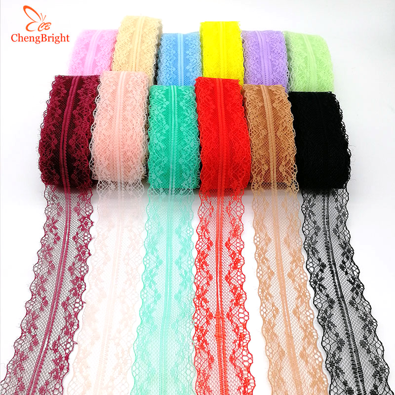 Beautiful 10Yards 18MM Width Embroidery Lace Ribbon DIY Sewing Skirt Accessories