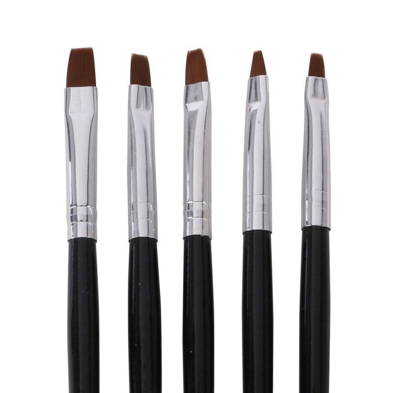 5Pcs Comestic Nail Art False Tips Drawing Painting Brush Acrylic UV Tools Set Nail Art Accessories Women Lady Beauty