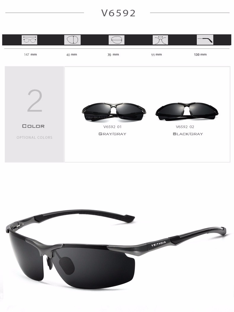 14a5dcf7ba 2017 New VEITHDIA Polarized Sunglasses Men Brand Designer Male ...