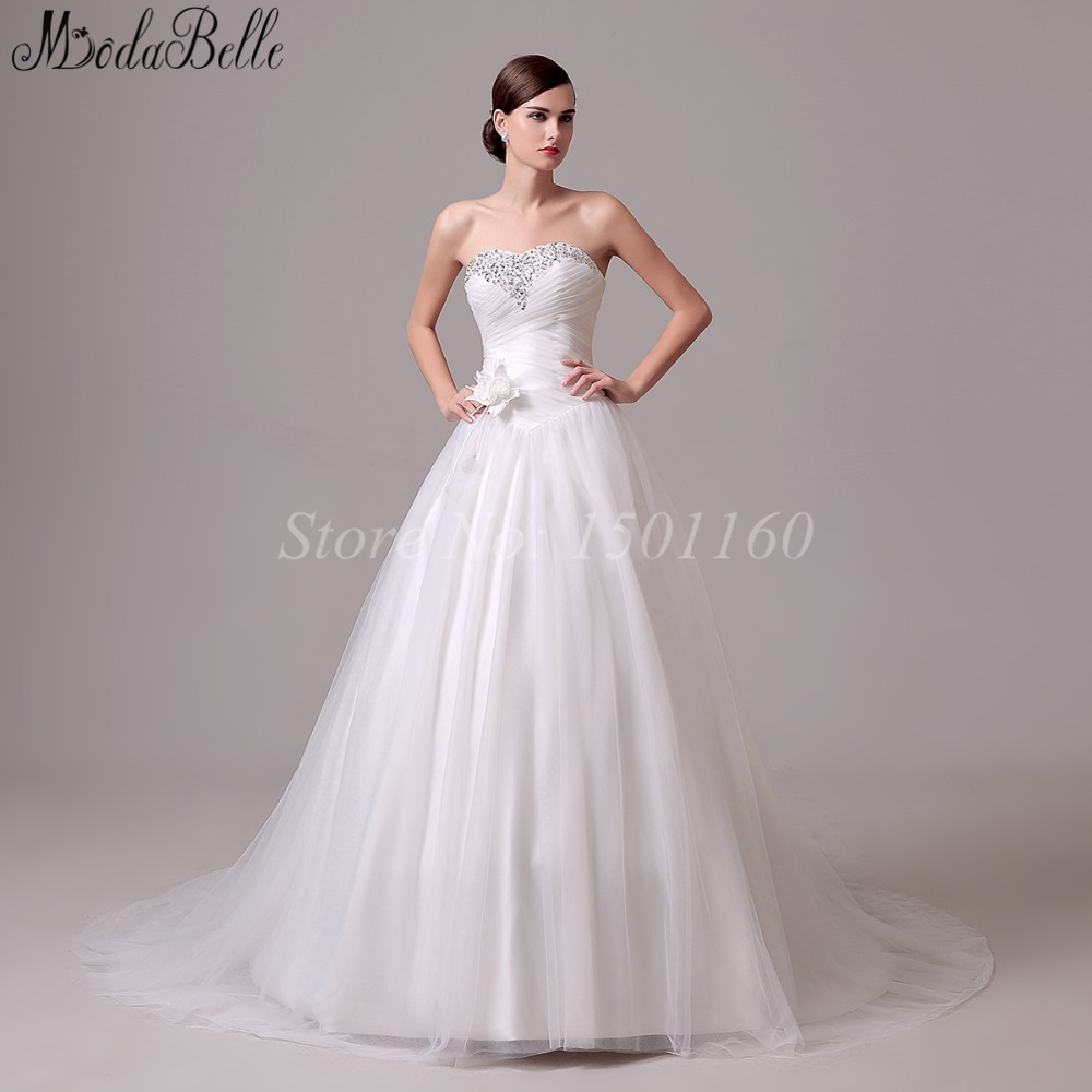 Pretty Girls Fitted Wedding Dresses With Waist Flower 2016