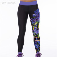 Vintage Legging Women 3D Fitness Gothic Legins Sweat-absorbent Leggings Sexy Workout Adventure Time Sexy Leggings New Arrival