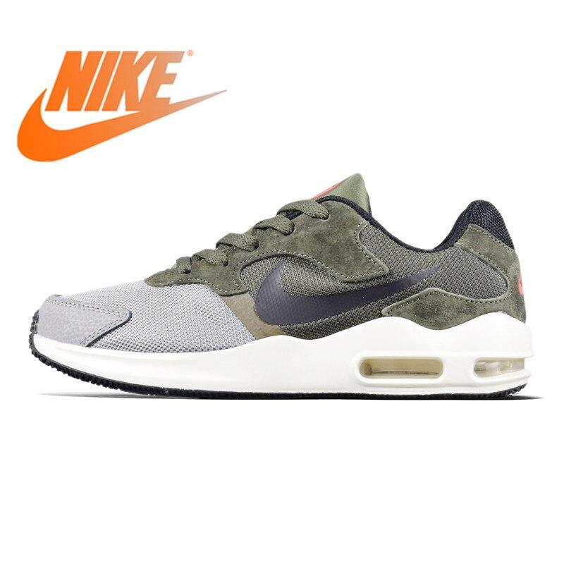 Original authentique NIKE AIR MAX GUILE hommes respirant chaussures de course léger, vert armée/noir, amortisseur 916768
