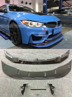 GTS Style Real Carbon Fiber Front Lip & Spoiler Bumper Fit For BMW F80 M3 F82 M4 2013+ 2PCS OLOTDI Car Styling