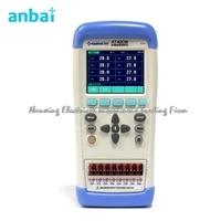 Szybkie przybycie Anbai AT4208 wielokanałowy Termometr Termopara J/K/T/E/S/N/B Ekran TFT LCD USB Ręczny Miernik Temperatury