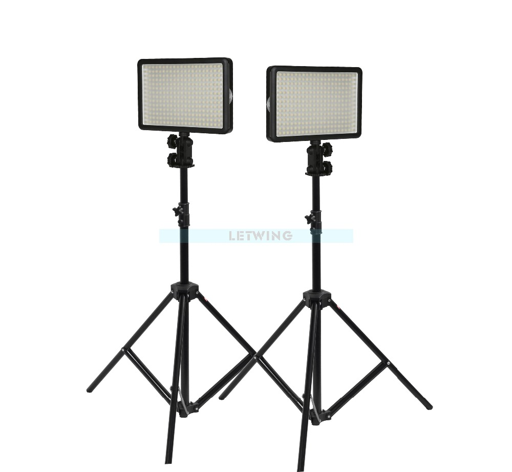 2x Godox LED 308W SN302 Light Stand With WHTIE Lighting Studio Video Light Kit For Wedding Fashion TV Adjust 3300-5600K