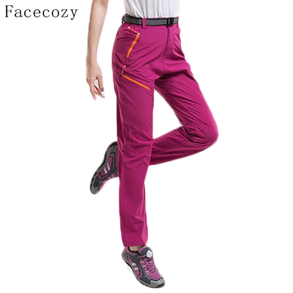 Facecozy ženy venkovní turistika Quick-Dry kalhoty tenké prodyšné tenké kalhoty léto a jaro lezení rybaření venkovní sportovní kalhoty  t