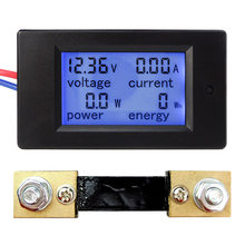 DC 6.5-100V 0-100A LCD Display Digital Current Voltage Power Energy Meter Multimeter Ammeter Voltmeter with 100A Current Shunt(China)