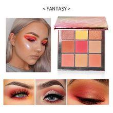 Fashion 9 Colors Glitter Eyeshadow Makeup Pallete Shimmer Shine Pigmented EyeShadow paleta de sombra beauty Waterproof Cosmetics