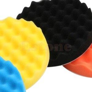 Image 5 - 새로운 4 개/대 6 인치 (150mm) 버핑 연마 스폰지 패드 키트 자동차 폴리 셔 버퍼