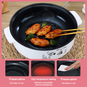 Image 1 - 220V Multifunctional Electric Cooker Heating Pan Electric Cooking Pot Machine Hotpot Noodles Rice Eggs Soup Steamer Cooking Pot