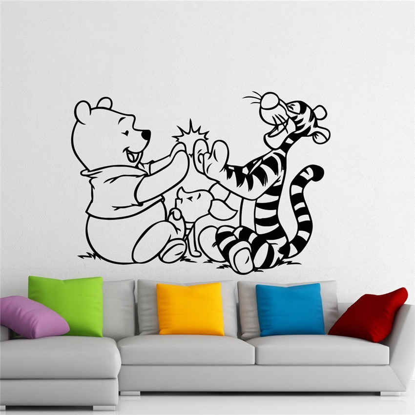 Clic Children S Winnie The Pooh Piglet Quote Wall Decals Vinyl Stickers Home Decor Living Room