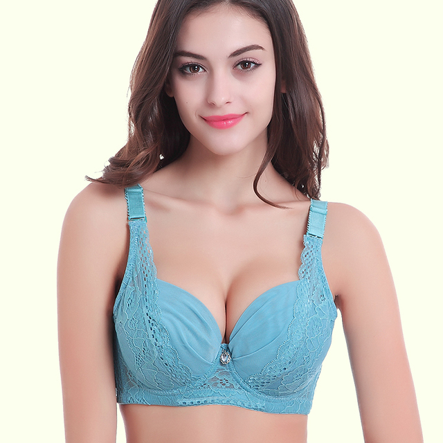 30cefd15c7 Sexy Full cup thin lace bra underwear small bra plus size adjustable bra  breast A B C cup Large size 34-44 bras soutien gorge