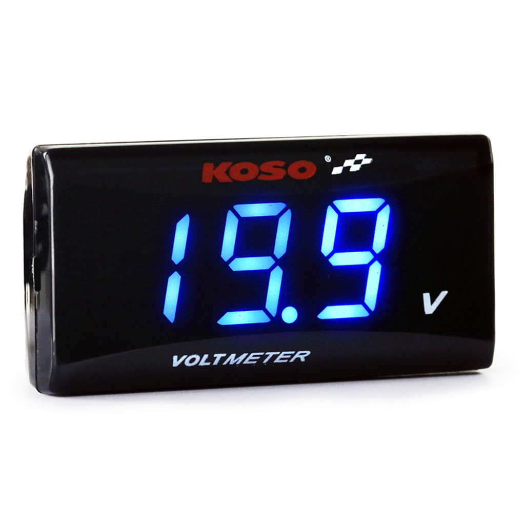 Universal Motorcycle Mini LED Digital Voltmeter Voltage Meter Instruments Gauge For Tmax 530 Xmax 300 Y15ZR LC135 KOSO in Instruments from Automobiles Motorcycles
