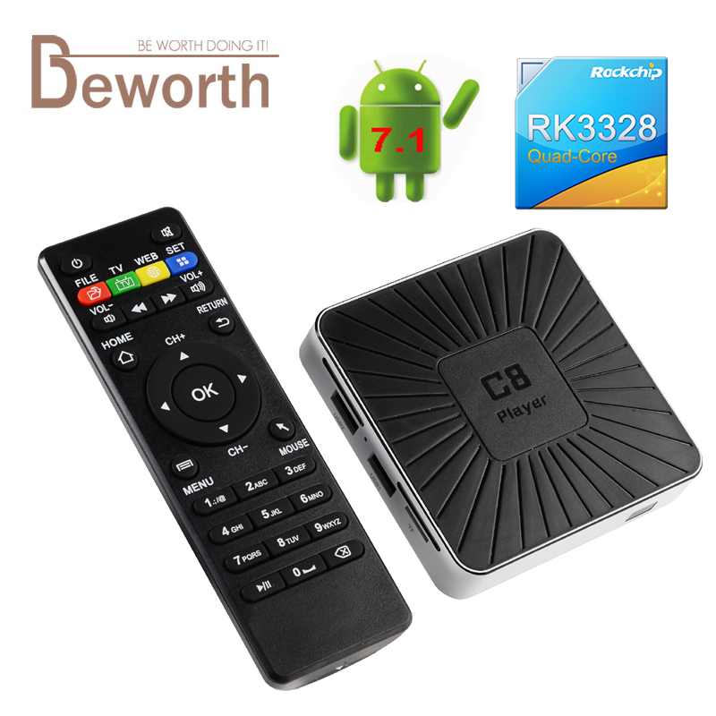 Android 7.1 Smart TV Box RK3328 Quad Core Streaming Media Player 1 GB de MÁSTER
