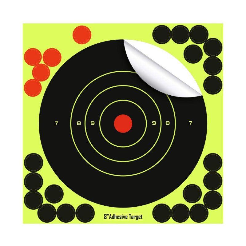 30PCS/PACK Realistic Fluorescence Targets For Professional Shooting Paster Sticker Paper,roll Packaged Not Folded