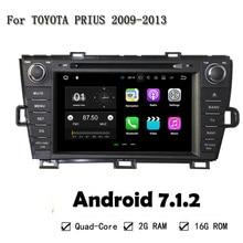 3G 4G Android 7.1.2 Quad Core 2GB RAM ROM 16G Car DVD Player For Toyota PRIUS 2009-2013 r GPS Navi Radio Multimedia Head Unit