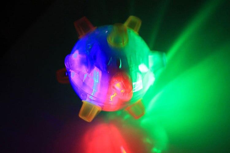 Прыжок танец мяч мигающий свет музыка Крытый Открытый мини Детская играть в игры, игрушки случайная